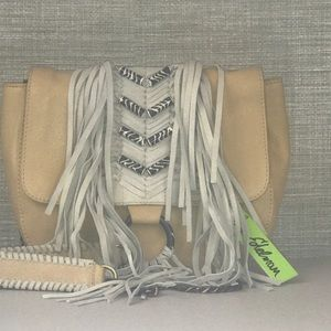 NWT Sam Edelman Tan Fringe Bag